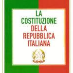 Cerimonia consegna  testo della  Costituzione Italiana