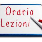 ORARIO DELLE LEZIONI 2020/21